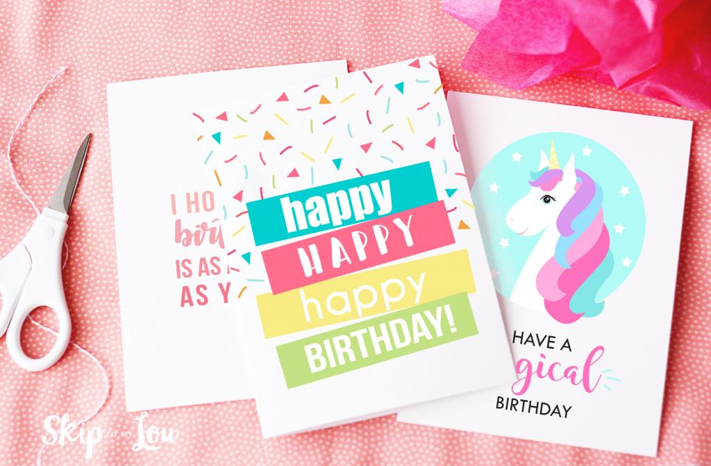 Free Printable Birthday Cards | Skip To My Lou | Printable 1 Year Old Birthday Card