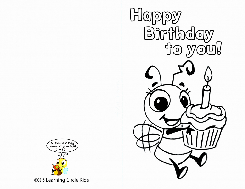 Free Printable Birthday Cards To Color - Printable Cards   Free Printable Goodbye Cards