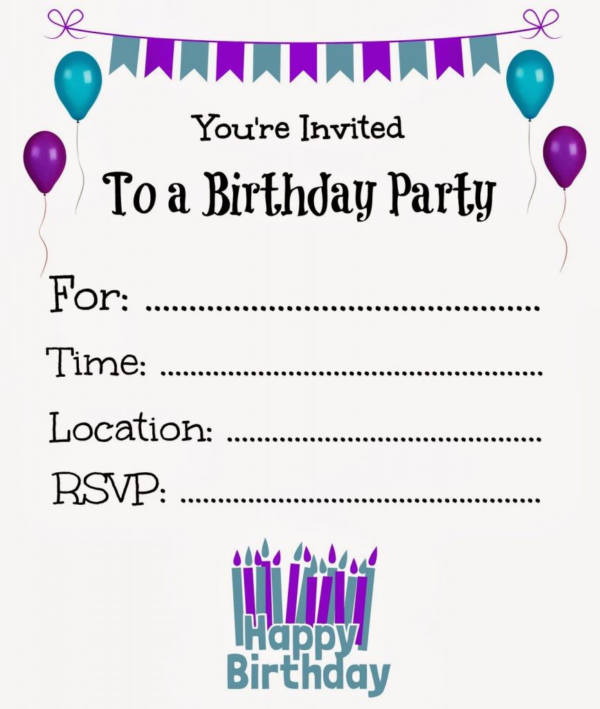 Free Printable Birthday Invitations For Kids #freeprintables | Free Online Printable Birthday Cards