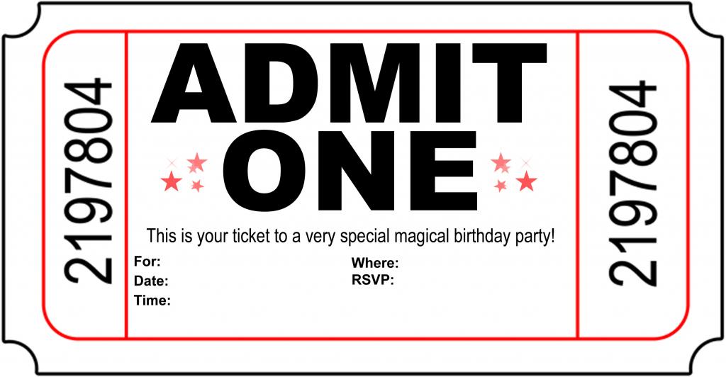 Free Printable Birthday Party Invitations - Kansas Magician | Free Printable Birthday Invitation Cards