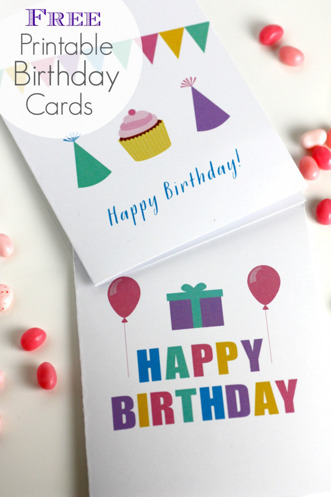 Free Printable Blank Birthday Cards | Catch My Party | Free Printable Greeting Cards
