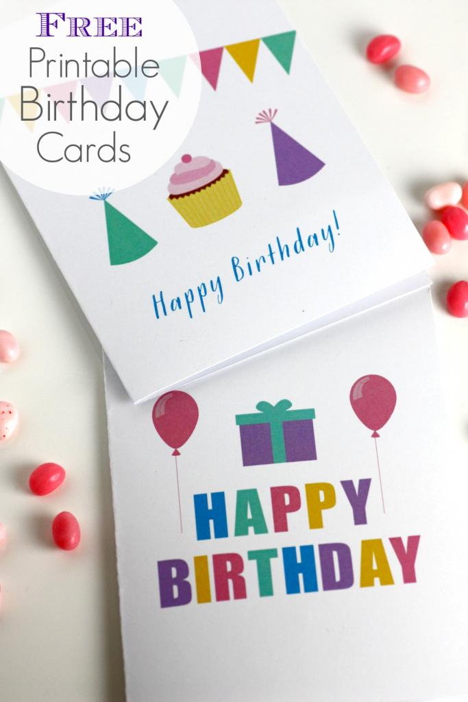 Free Printable Blank Birthday Cards | Catch My Party | Free Printable Personalized Birthday Cards