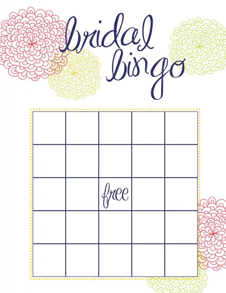 Free Printable Bridal Shower Bingo | Free Printables | Printable Blank Bridal Shower Bingo Cards