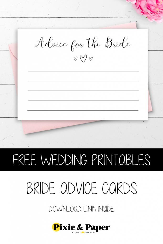 Free Printable Bride Advice Cardspixie & Paper | Bridal Shower | Free Printable Bridal Shower Advice Cards