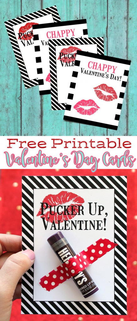 Free Printable Chapstick Valentine's Day Cards | Will You Be My | Valentine's Day Cards For Her Printable