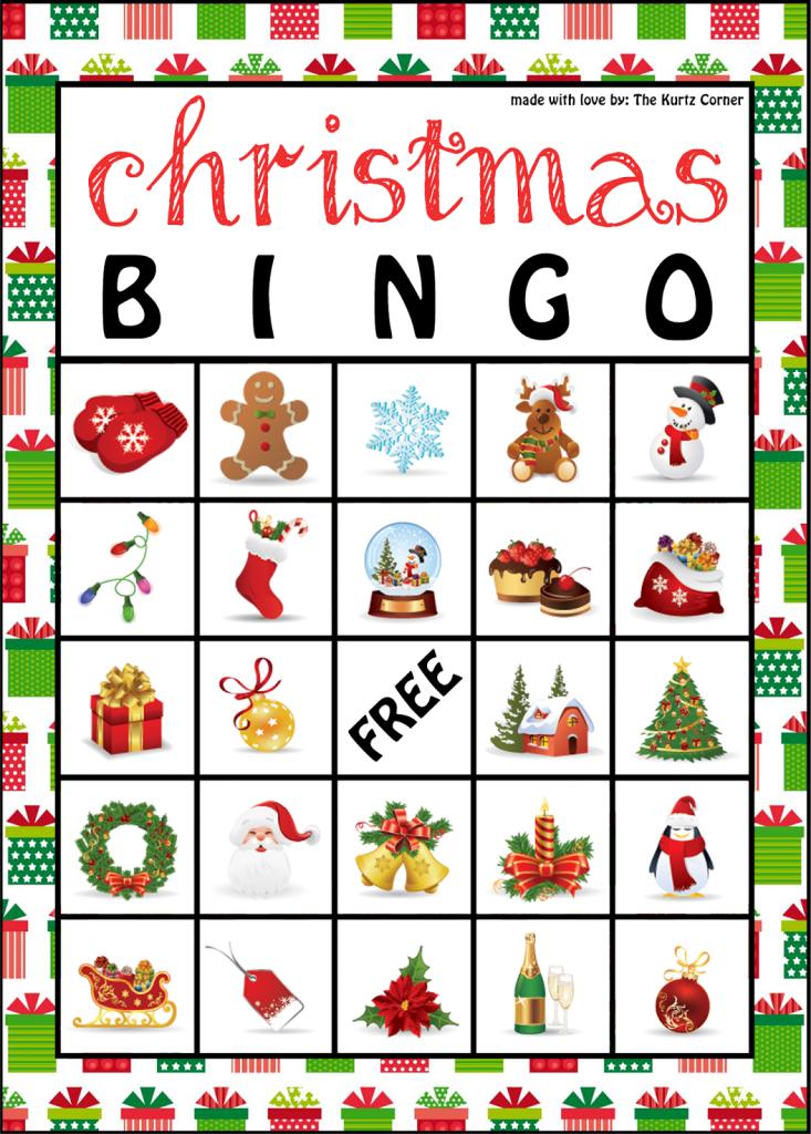 Free Printable Christmas Bingo Cards From The Kurtz Corner | Diy | Santa Bingo Cards Printable