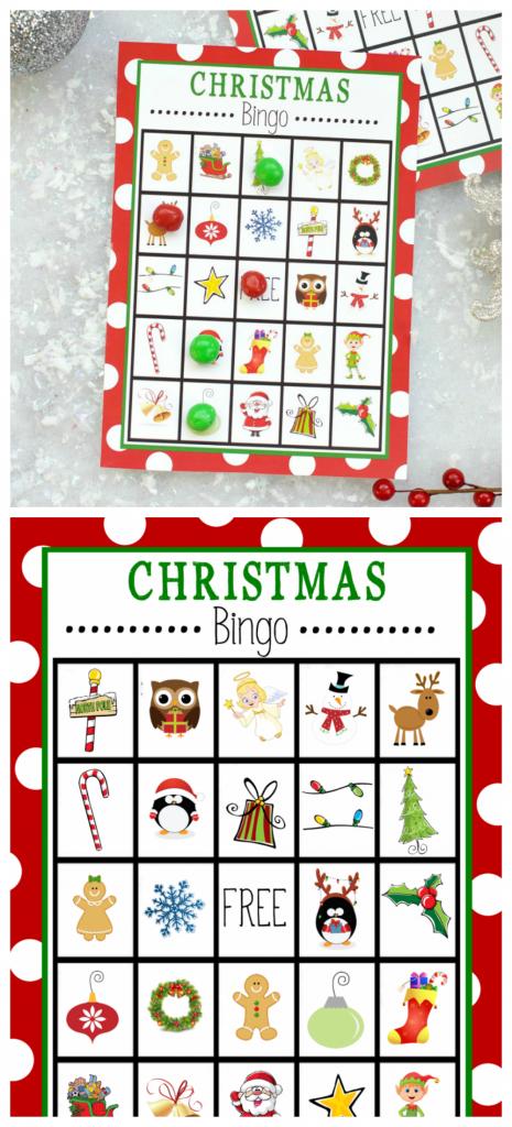 Free Printable Christmas Bingo Game – Fun-Squared | Kid Christmas Bingo Card Printables