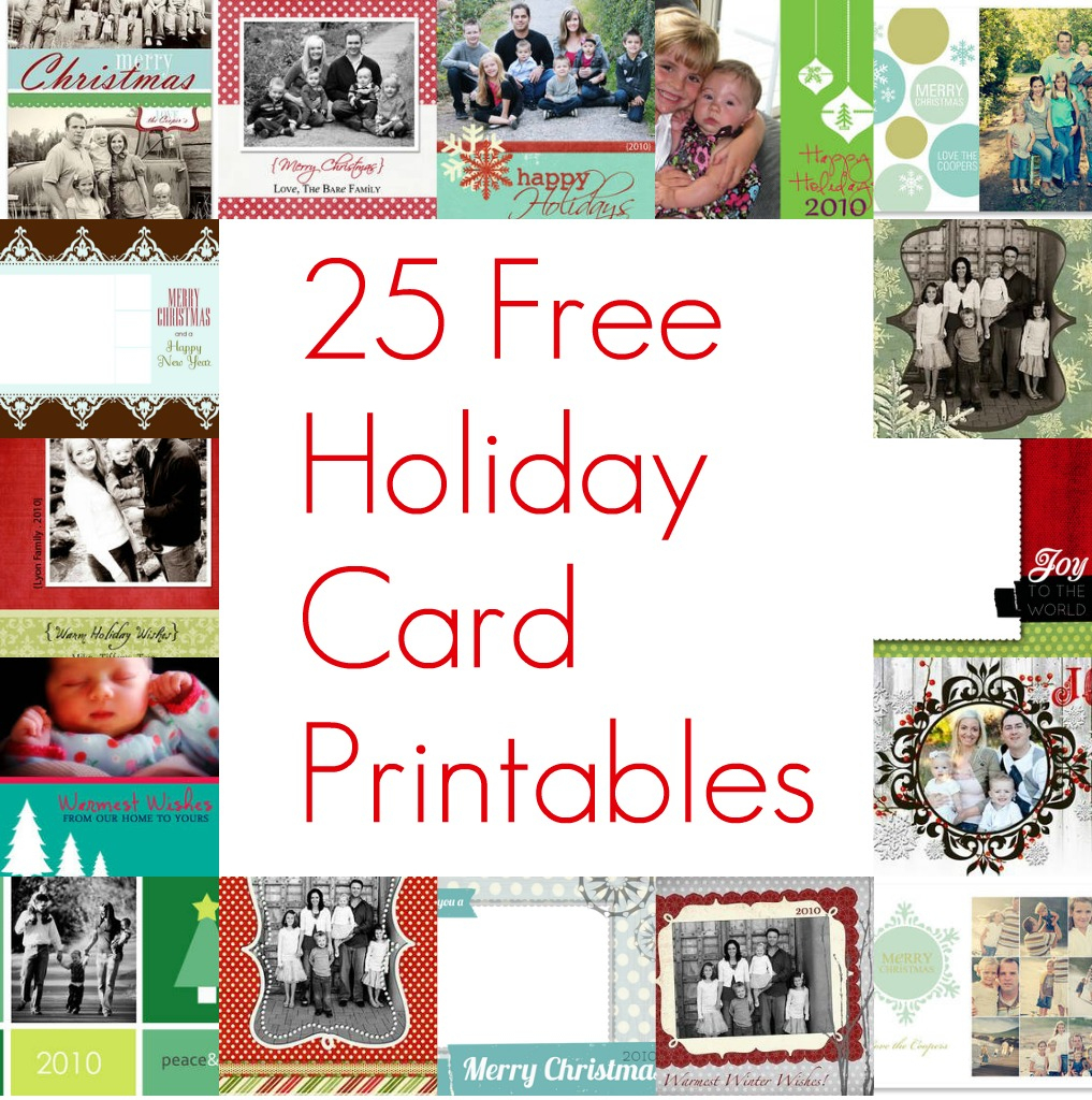 Free Printable Christmas Card Inserts – Happy Holidays!   Free Printable Christmas Cards With Photo Insert