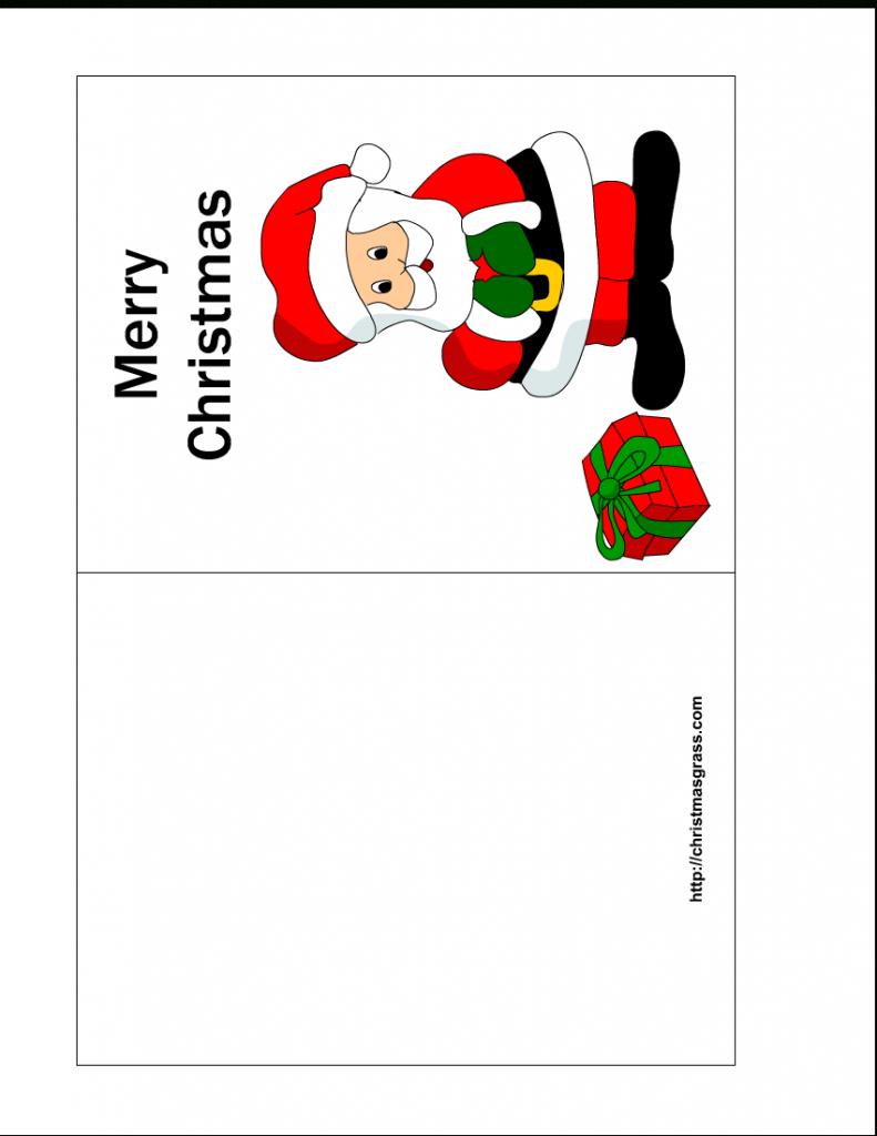 Free Printable Christmas Cards   Free Printable Christmas Card With   Printable Christmas Cards Templates