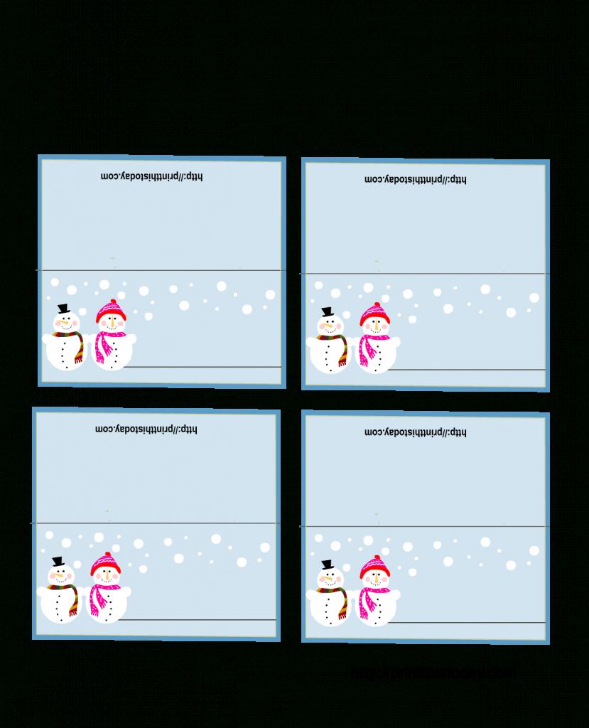 Free Printable Christmas Cards | Free Printable Christmas Place | Printable Christmas Place Cards