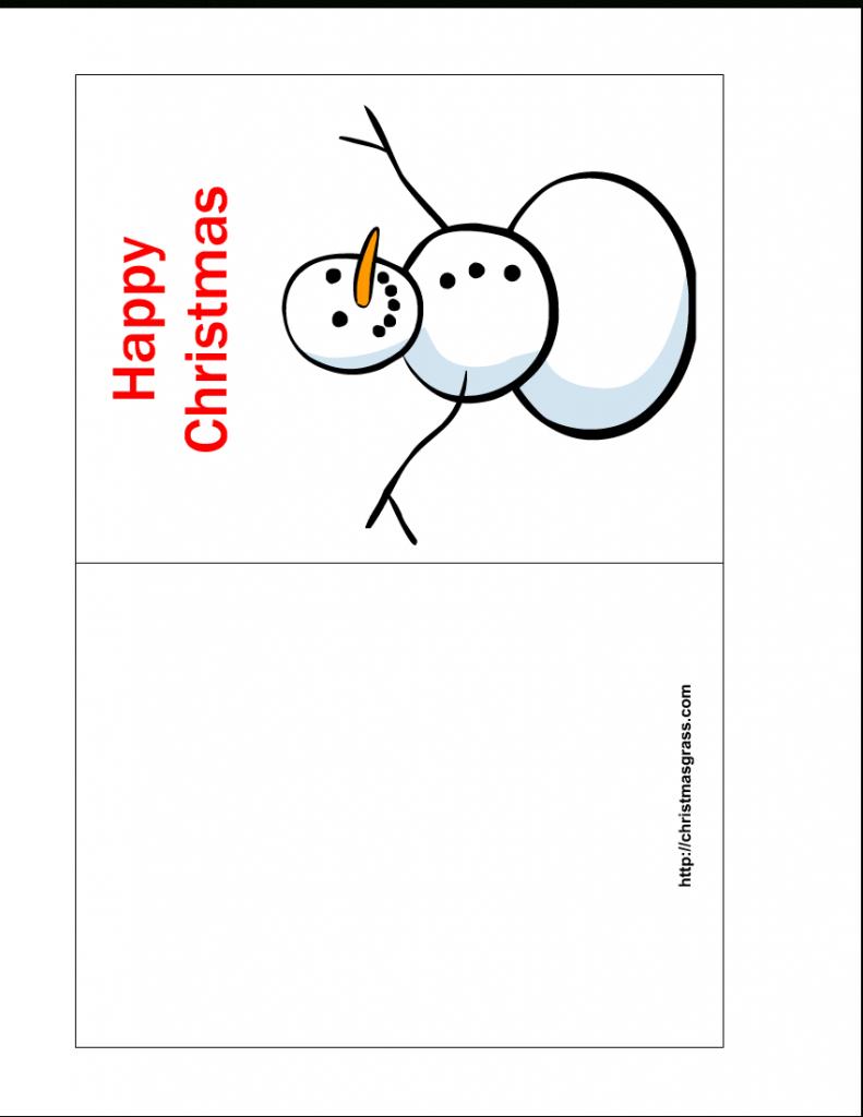 Free Printable Christmas Cards | Free Printable Happy Christmas Card | Printable Holiday Photo Cards