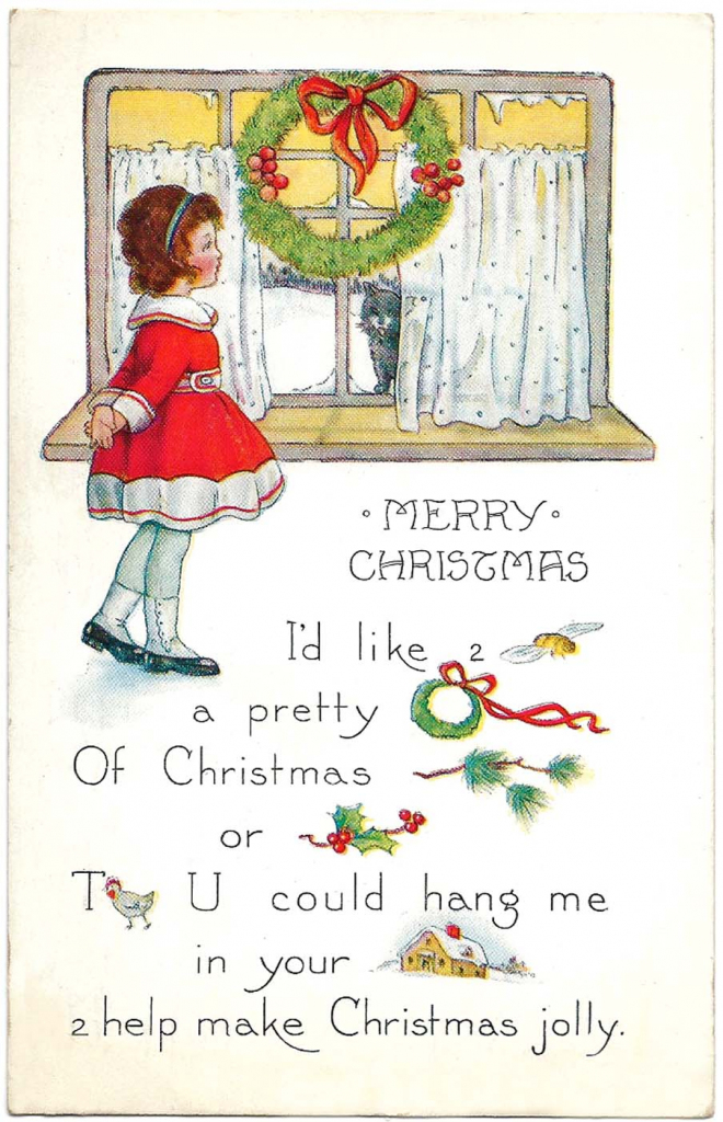 Free Printable Christmas Cards - From Antique Victorian To Modern | Printable Vintage Christmas Cards