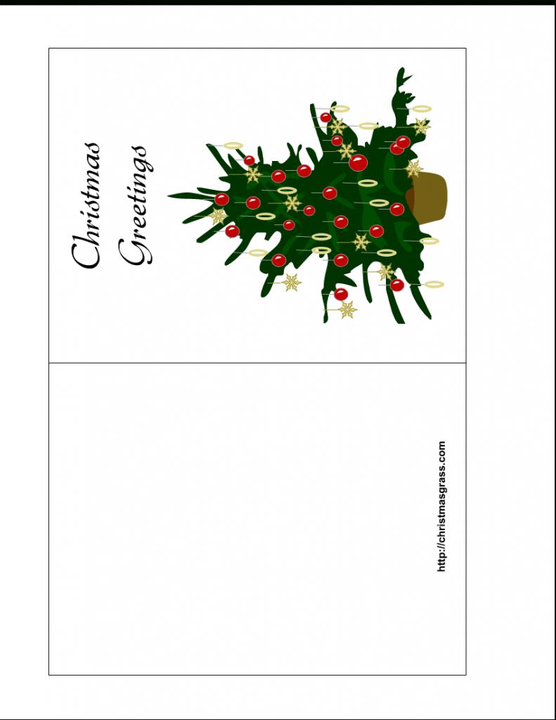 Free Printable Christmas Cards | Holiday Greeting Card With | Printable Christmas Greeting Cards