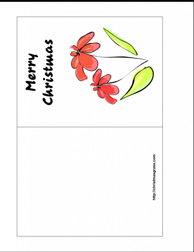 Free Printable Christmas Greeting Cards   Printable Greeting Card Template