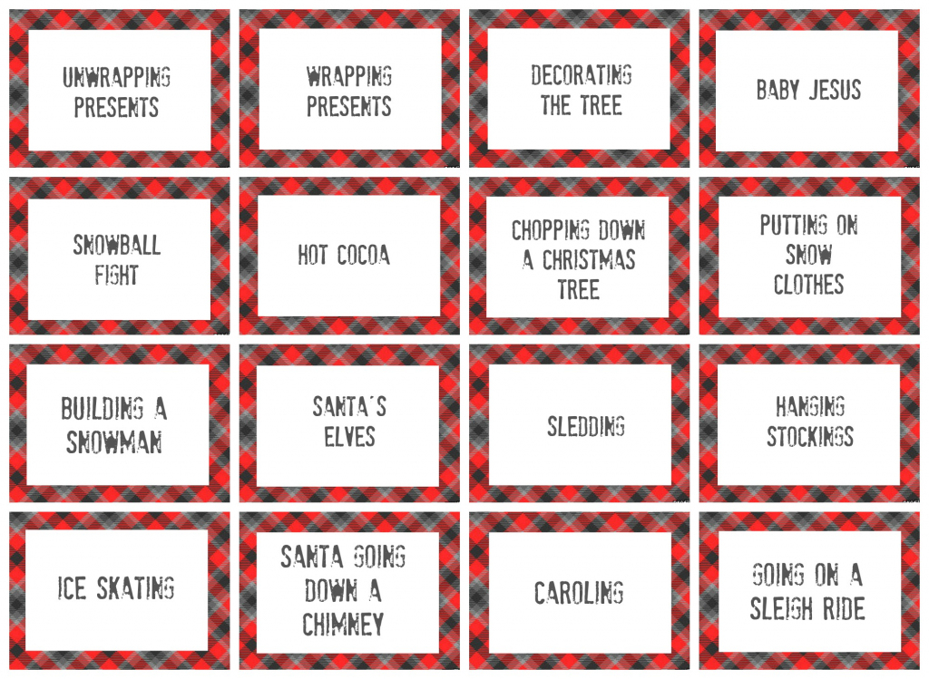 Free Printable Christmas Pictionary Cards – Festival Collections   Free Printable Christmas Pictionary Cards