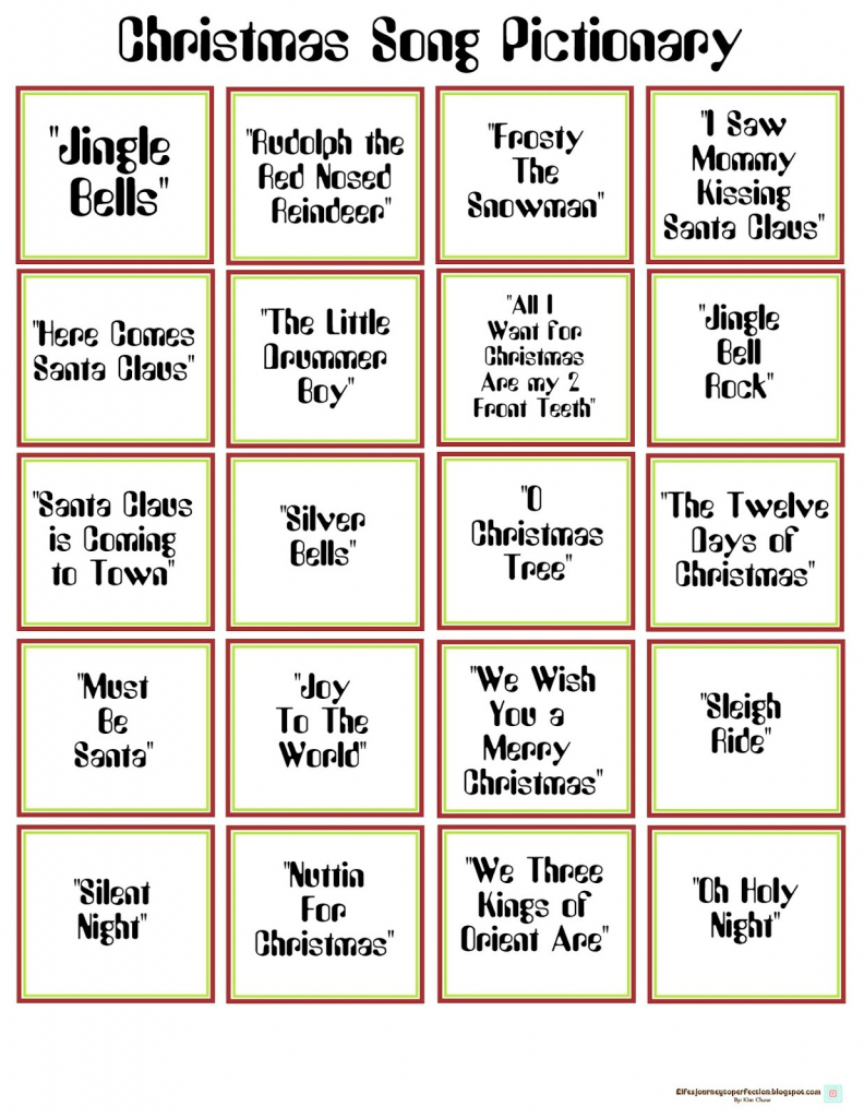 Free Printable Christmas Pictionary Words – Halloween & Holidays Wizard   Free Printable Christmas Pictionary Cards