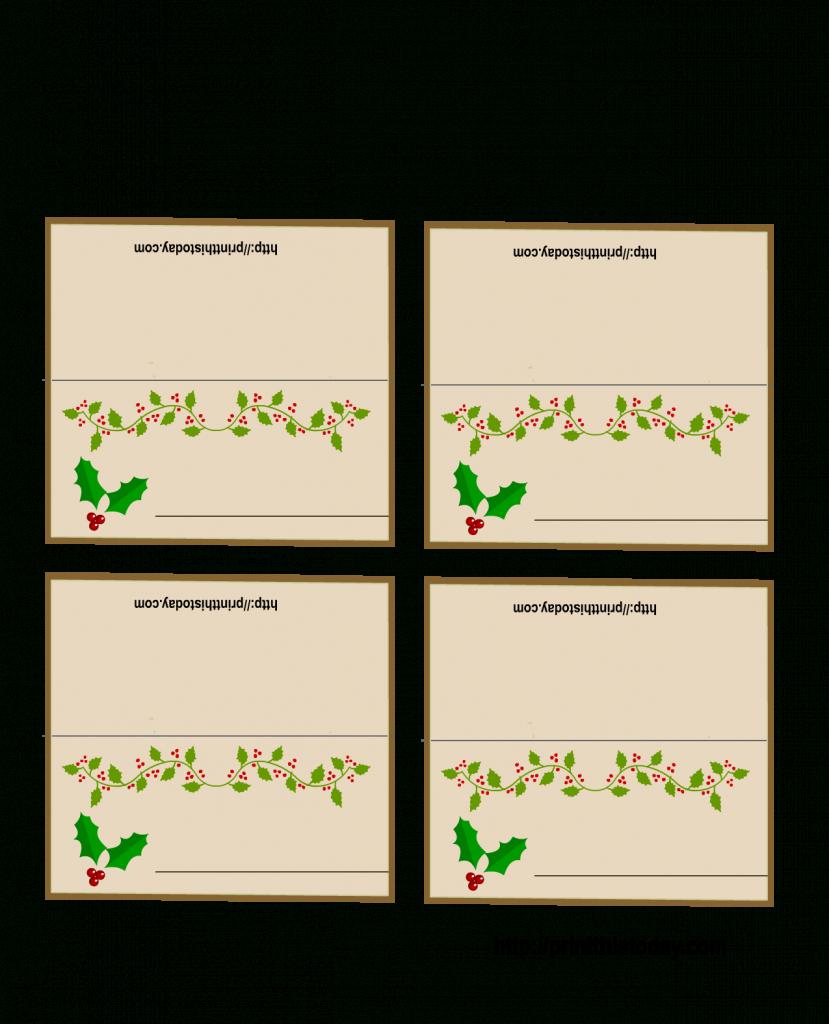 Free Printable Christmas Place-Cards | Free Printable Christmas Table Place Cards Template