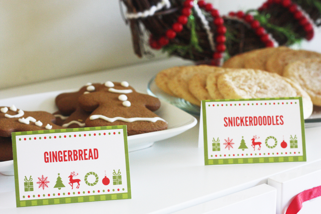 Free Printable Christmas Tent Cards – Festival Collections | Free Printable Christmas Tent Cards
