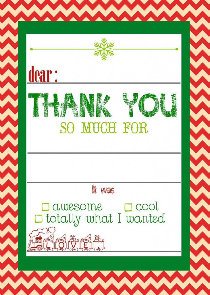 Free, Printable Christmas Thank You Cards For Kids | Christmas | Christmas Thank You Cards Printable Free