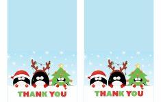Free Printable Christmas Thank You Cards – Printable Cards | Free Printable Xmas Cards