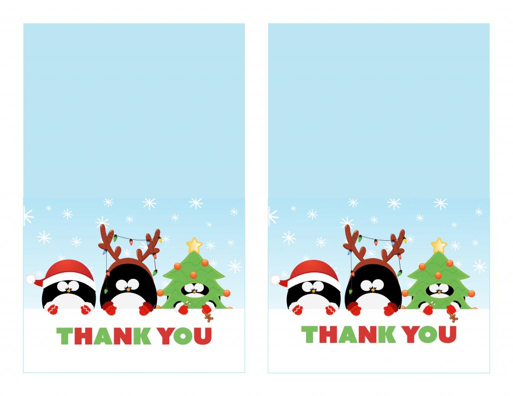 Free Printable Christmas Thank You Cards - Printable Cards | Printable Christmas Thank You Cards