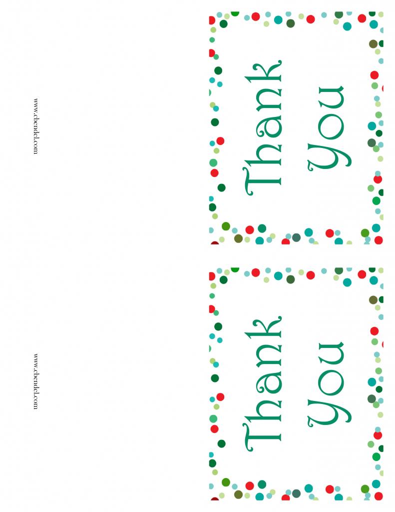 Free Printable Christmas Thank You Cards | Printable Christmas Thank You Cards