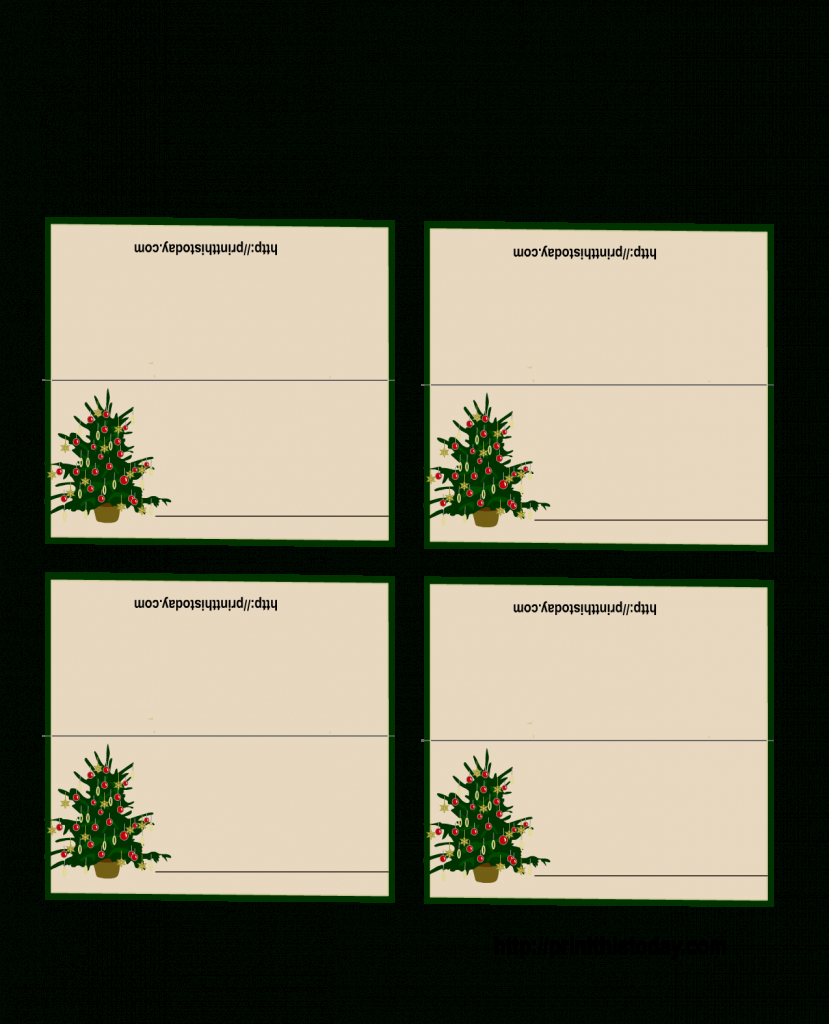 Free Printable Christmas Tree Place Cards | *+* Free Holiday | Free Printable Christmas Tent Cards