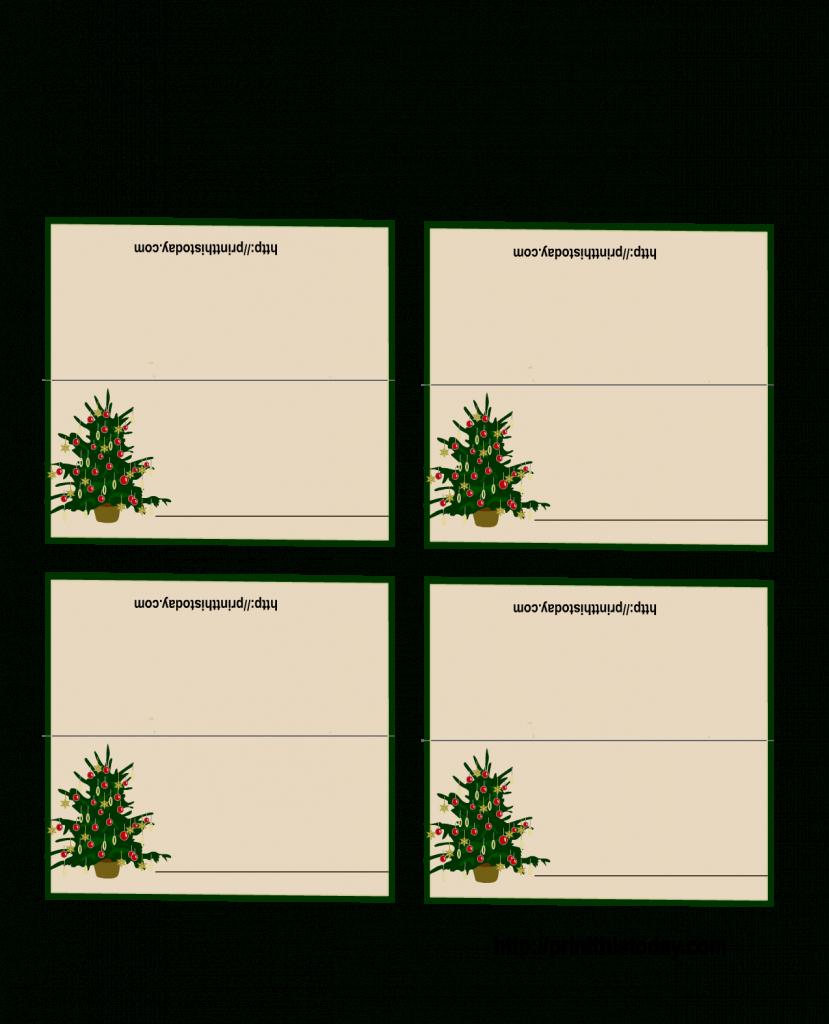 Free Printable Christmas Tree Place Cards | *+* Free Holiday | Printable Christmas Place Cards