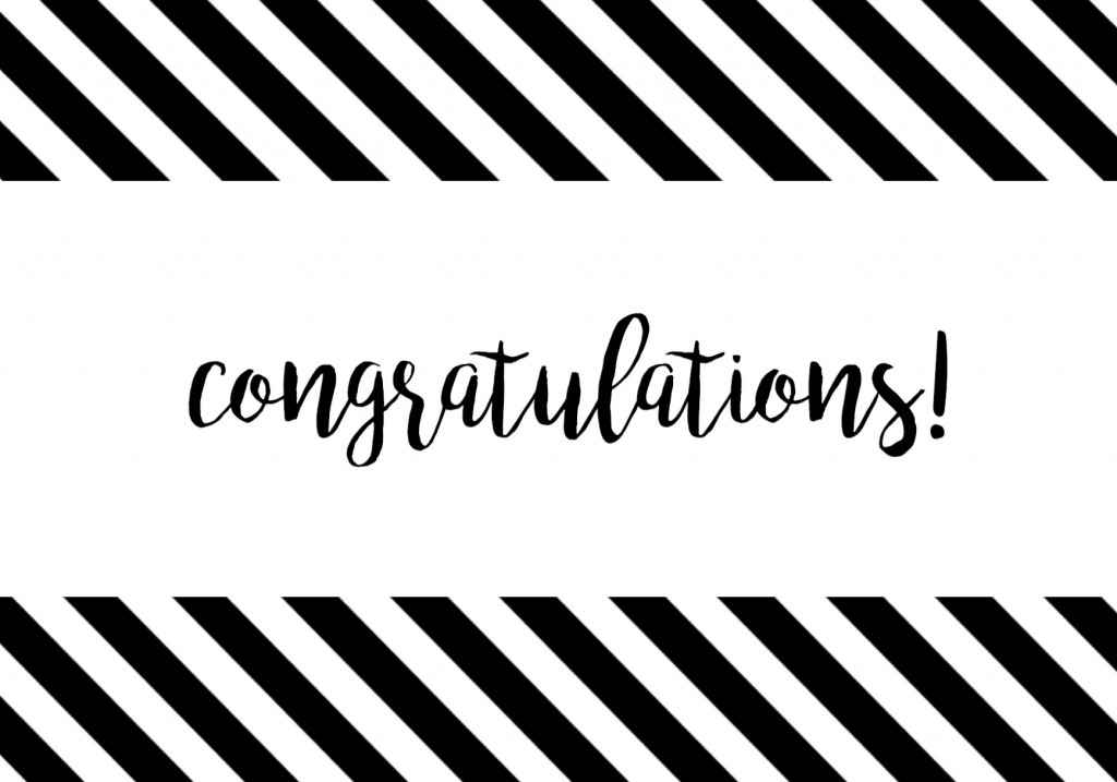 Free Printable Congratulations Card - Paper Trail Design | Free Printable Wedding Shower Greeting Cards