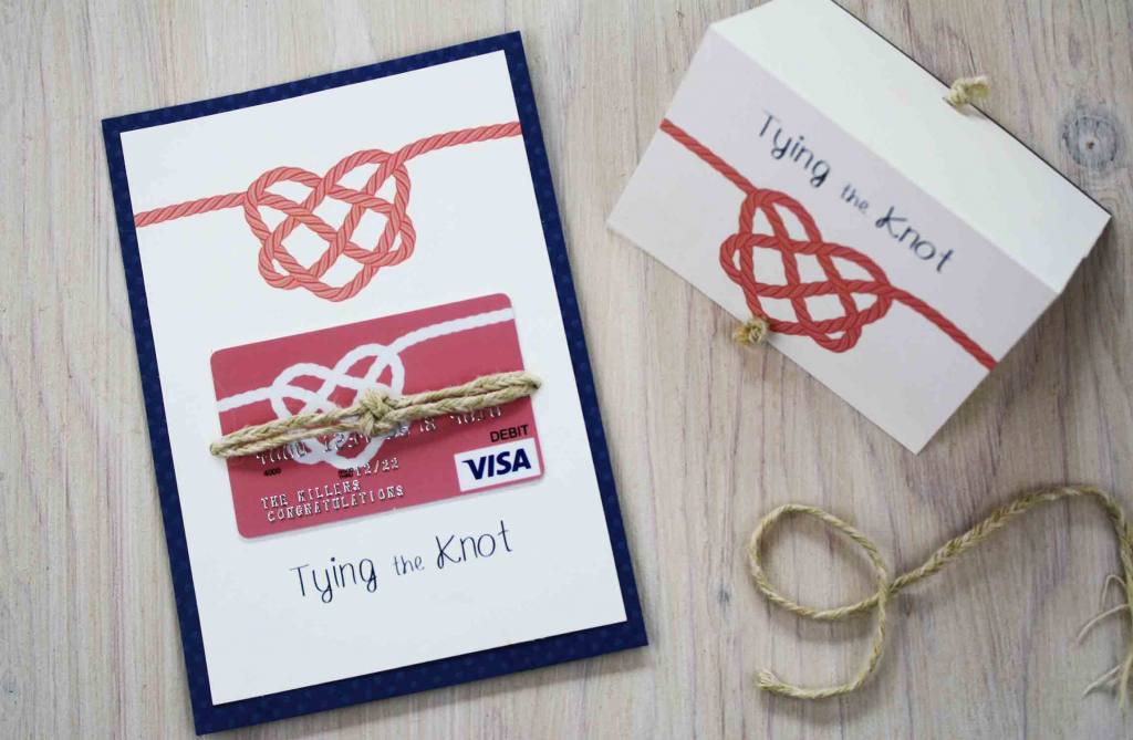 Free Printable} Congratulations On Tying The Knot   Giftcards   Printable Visa Gift Cards