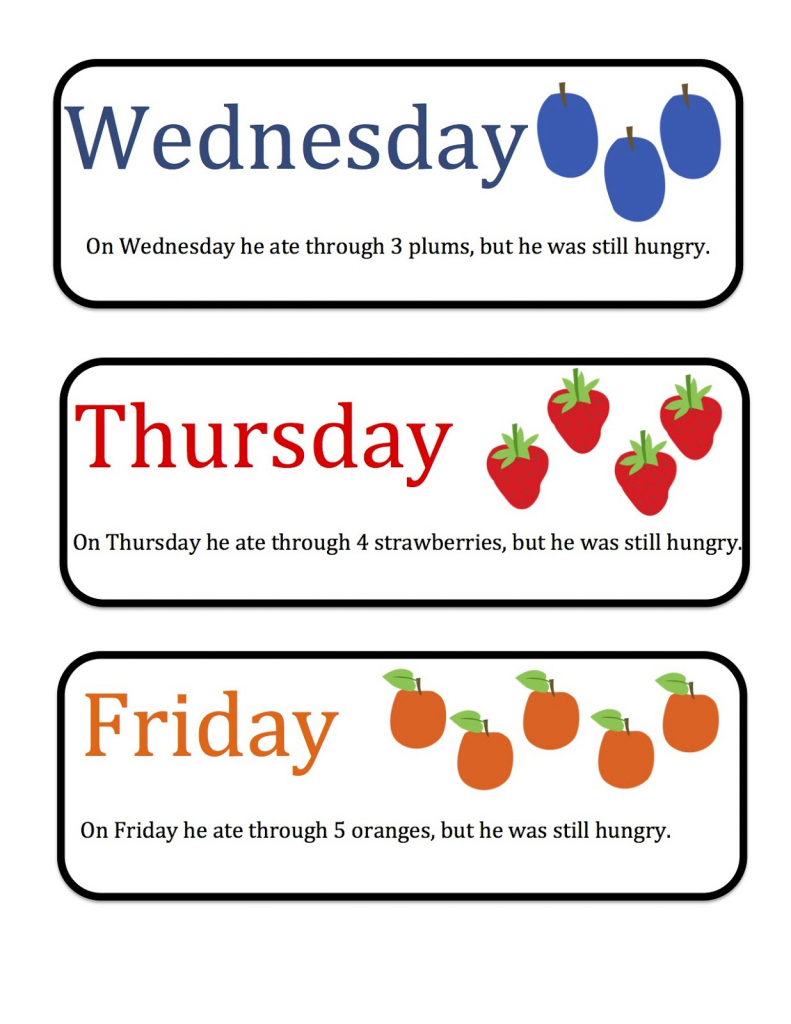 Free Printable Days Of The Week Cards   Free Printables   Free Printable Days Of The Week Cards