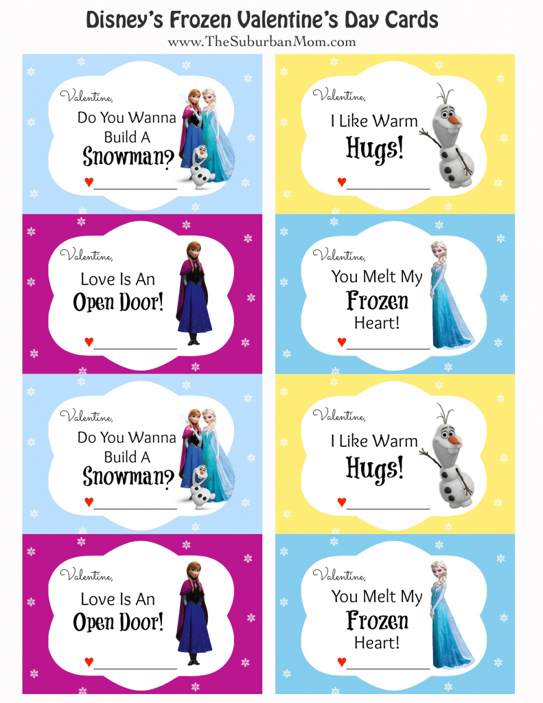 Free Printable Disney Frozen Valentine's Day Cards | Saint | Frozen Valentine Cards Printable