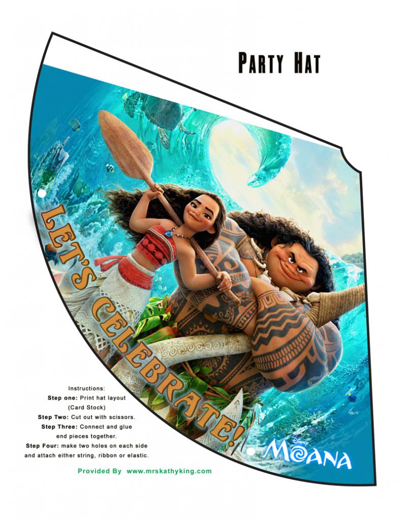 Free Printable Disney's Moana Birthday Party Decorations #moana | Moana Birthday Card Printable