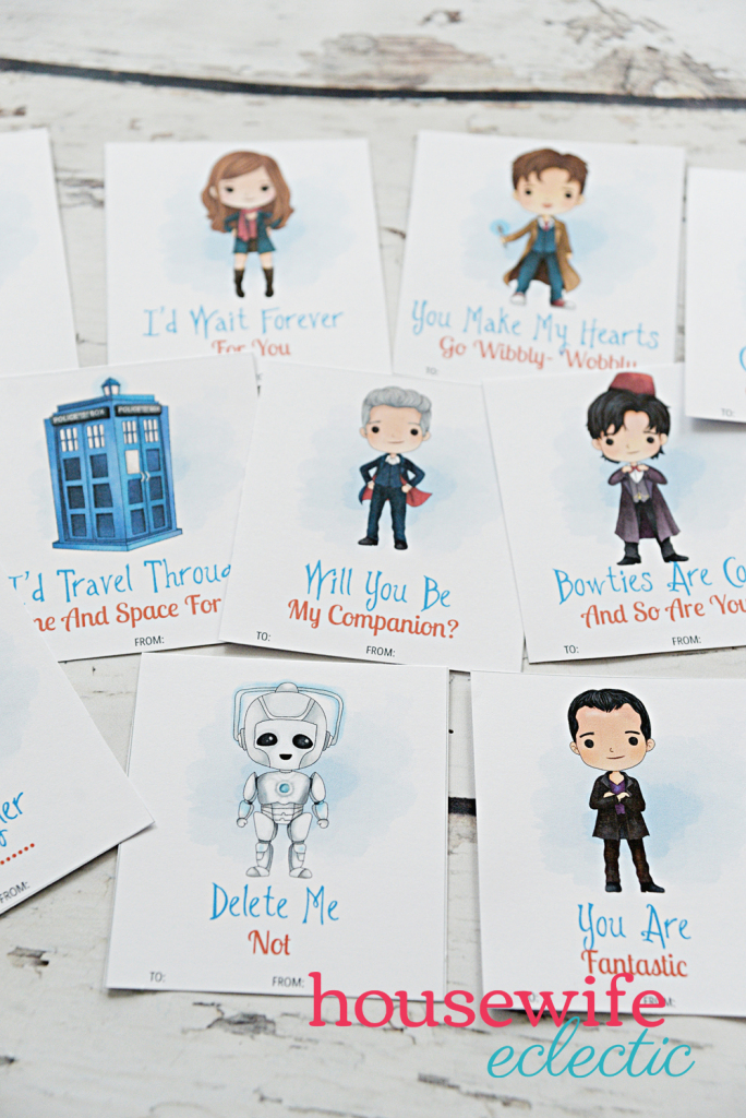 Free Printable Doctor Who Valentines - Housewife Eclectic | Doctor Who Valentine Cards Printable