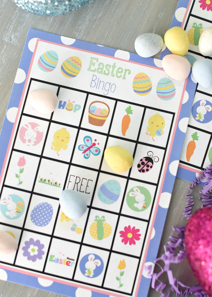 Free Printable Easter Bingo Game – Fun-Squared | Free Printable Religious Easter Bingo Cards