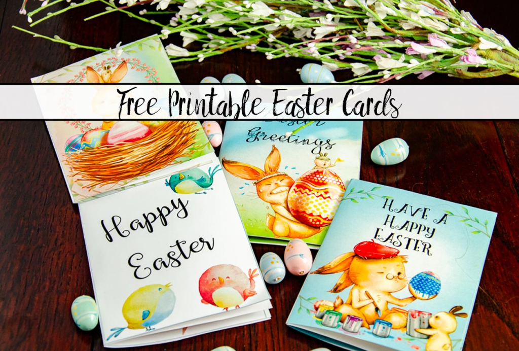 Free Printable Easter Cards: 4 Adorable Designs   Printable Easter Greeting Cards Free