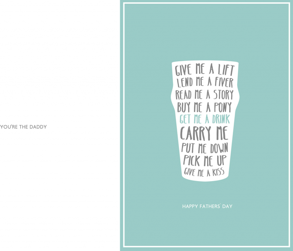 Free Printable Fathers Day Cards   Free Printable Download   Free Happy Fathers Day Cards Printable