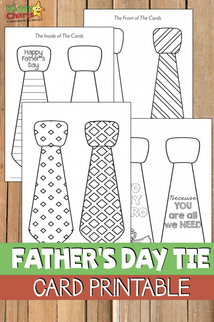 Free Printable Father's Day Tie Card | Kbn Father's Day For Kids | Father's Day Tie Card Printable