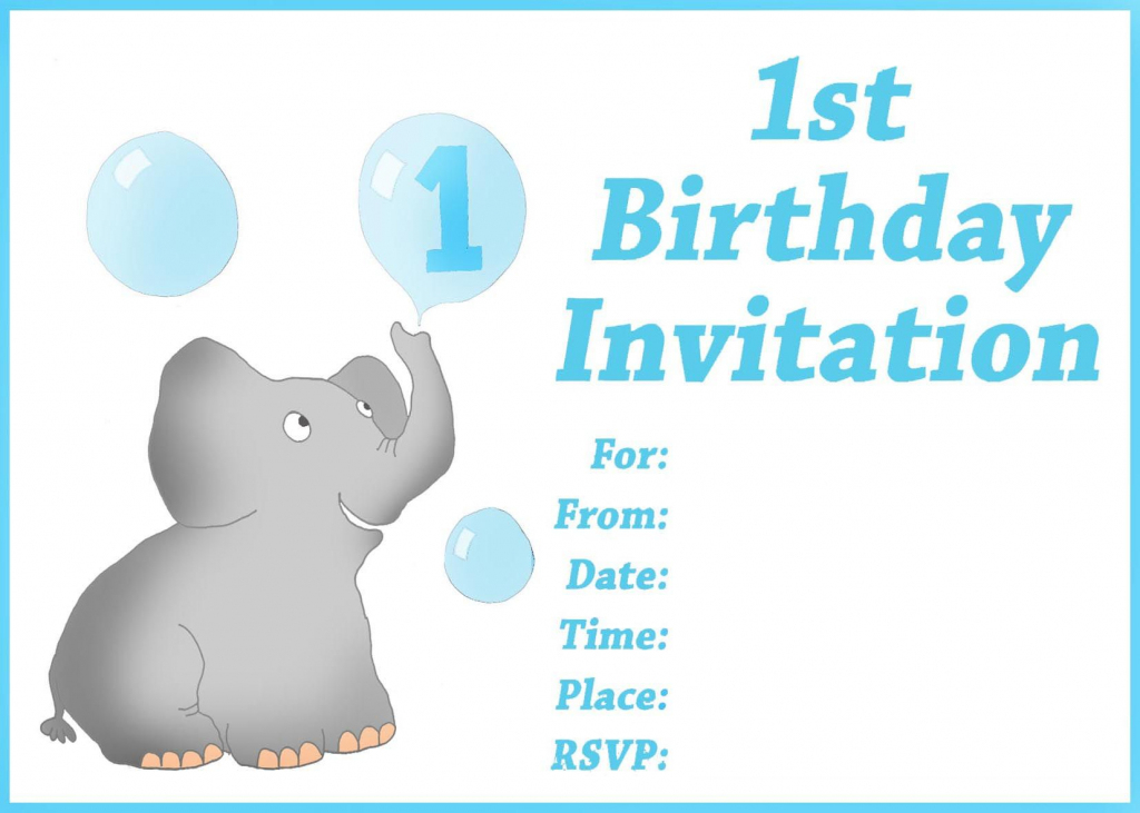 Free Printable First Birthday Invitations For Boy For Donny | Customized Birthday Cards Free Printable