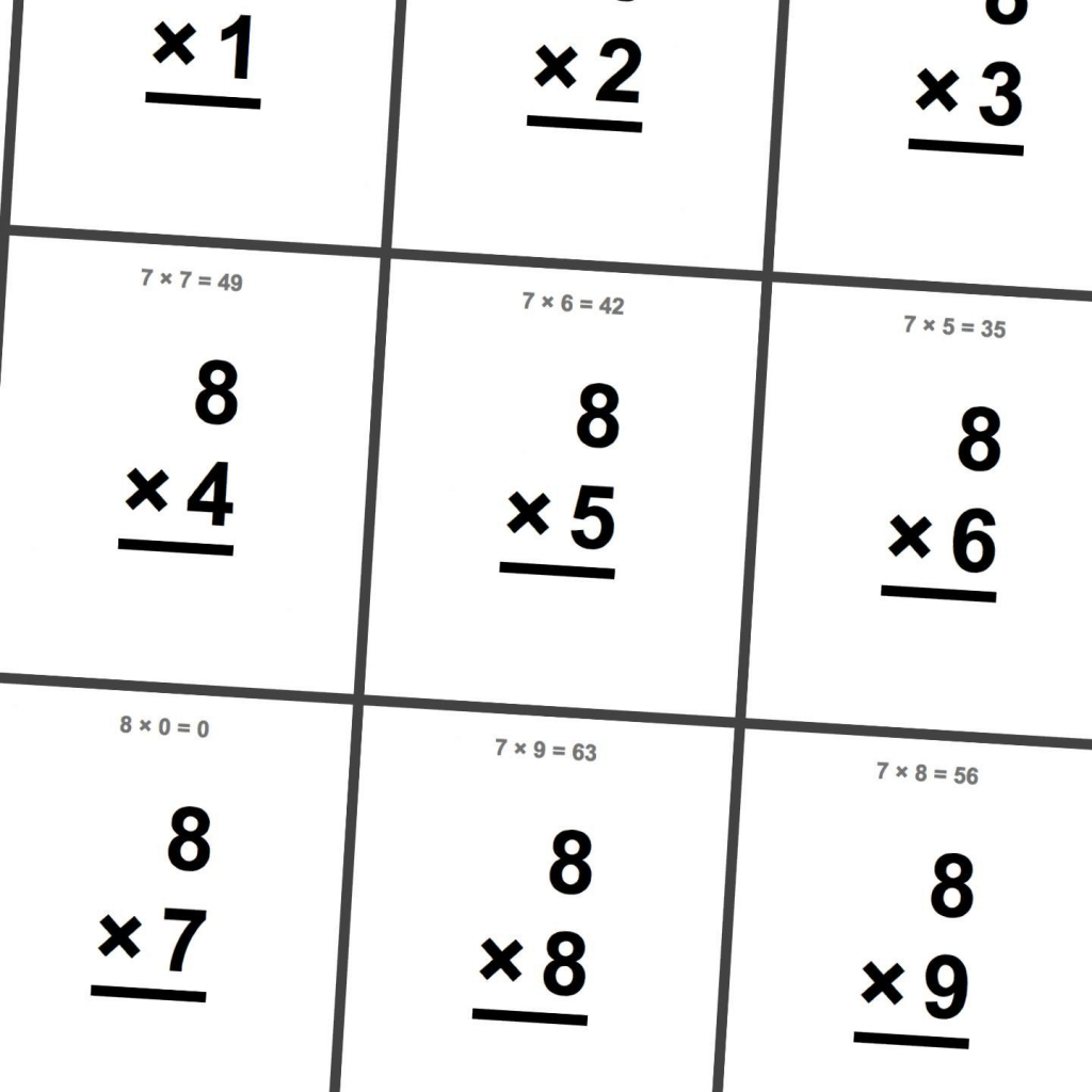Free Printable Flash Cards For Multiplication Math Facts. This Set | Math Flash Cards Printable Multiplication