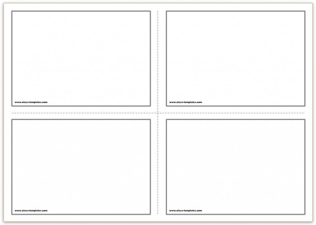 Free Printable Flash Cards Template   Free Printable Card Templates