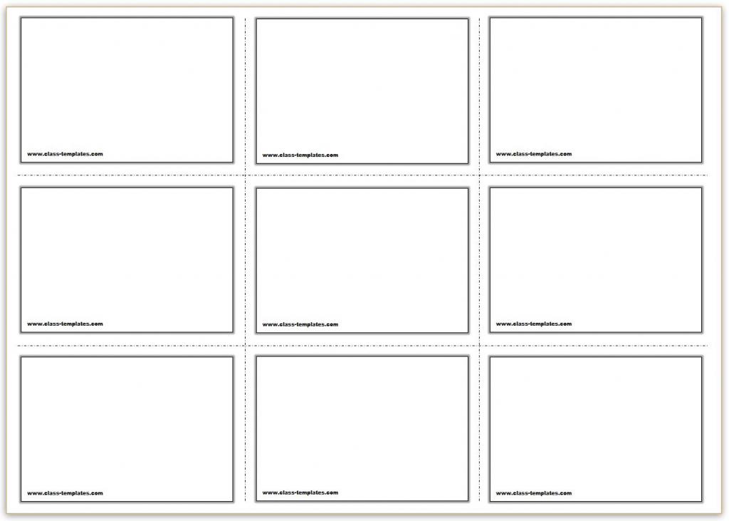 Free Printable Flash Cards Template | Printable Blank Flash Cards