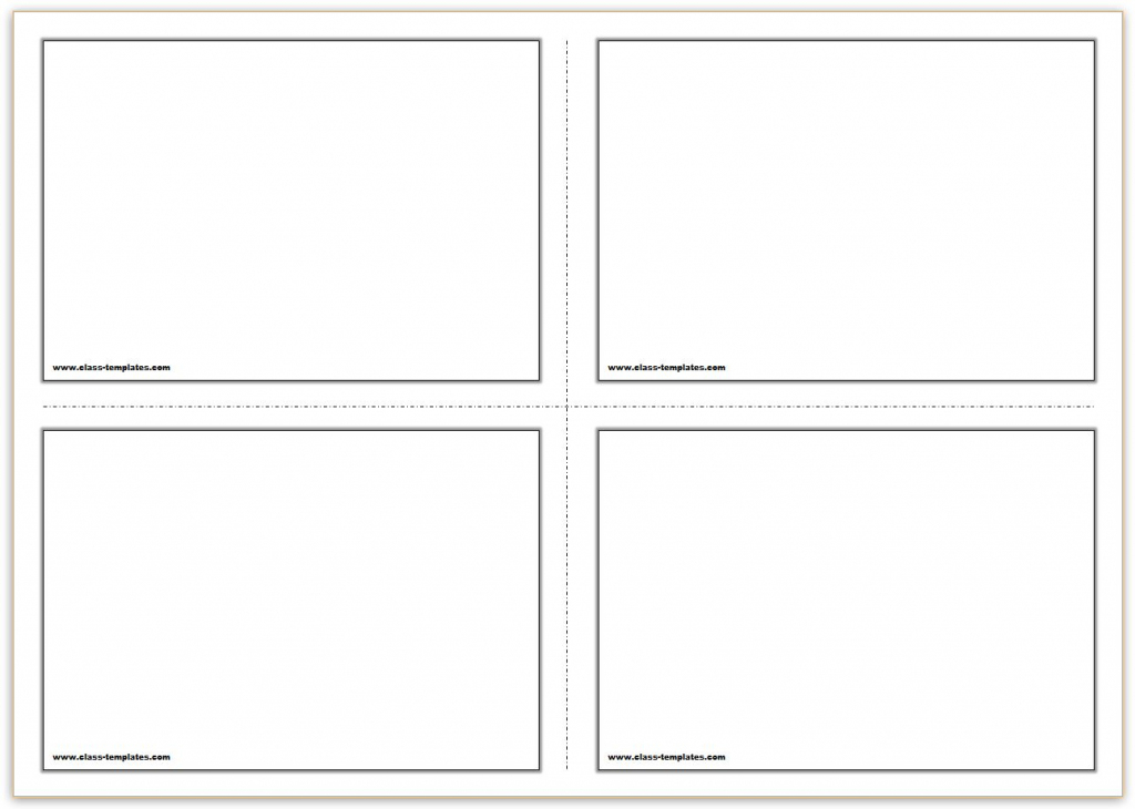 Free Printable Flash Cards Template   Printable Flash Card Maker Front And Back