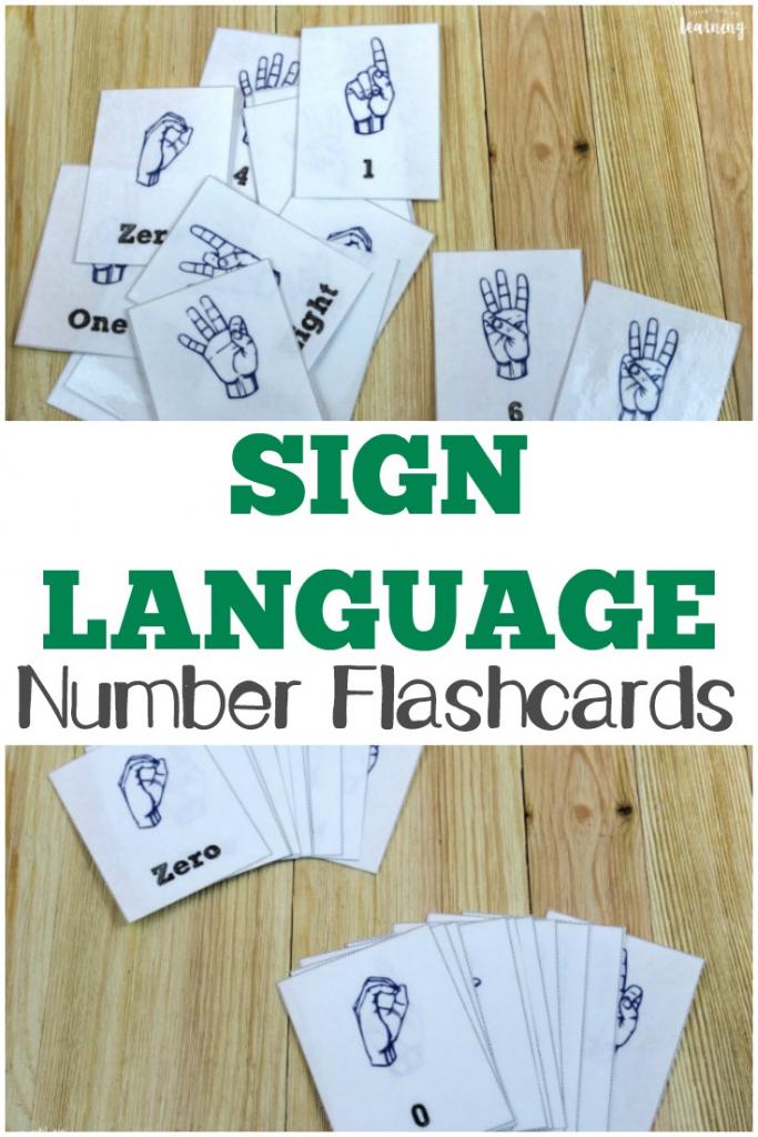 Free Printable Flashcards: Asl Number Flashcards | Sign Language Flash Cards Free Printable