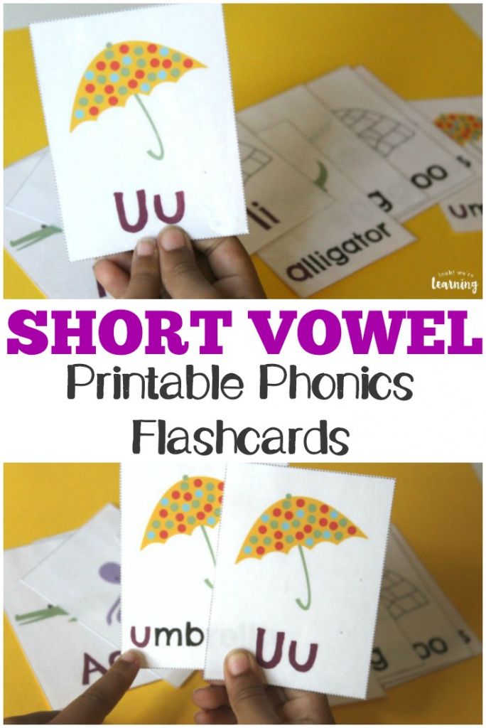 Free Printable Flashcards: Short Vowel Flashcards   Printable Picture Cards For Phonics