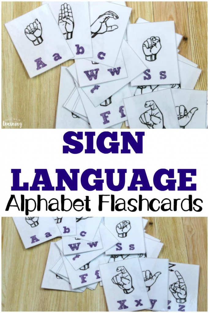 Free Printable Flashcards: Sign Language Alphabet Flashcards | Sign Language Flash Cards Printables