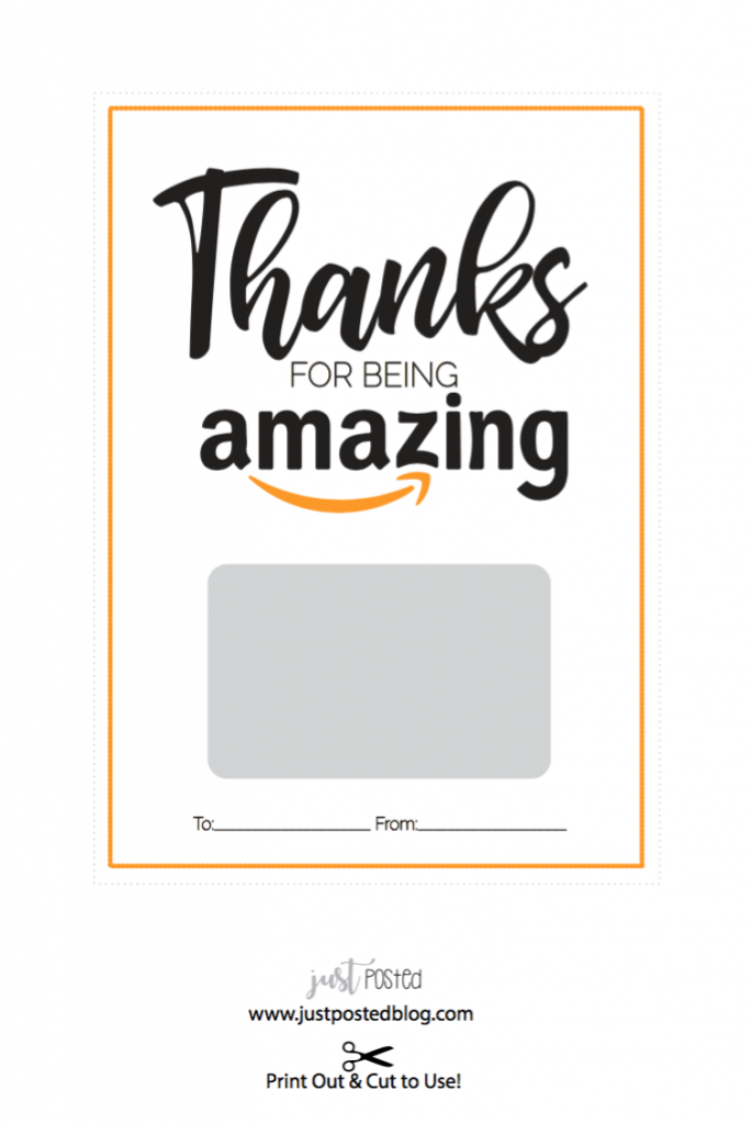 Free Printable For An Amazon Gift Card – Just Posted | Gift Guides | Amazon Printable Gift Card