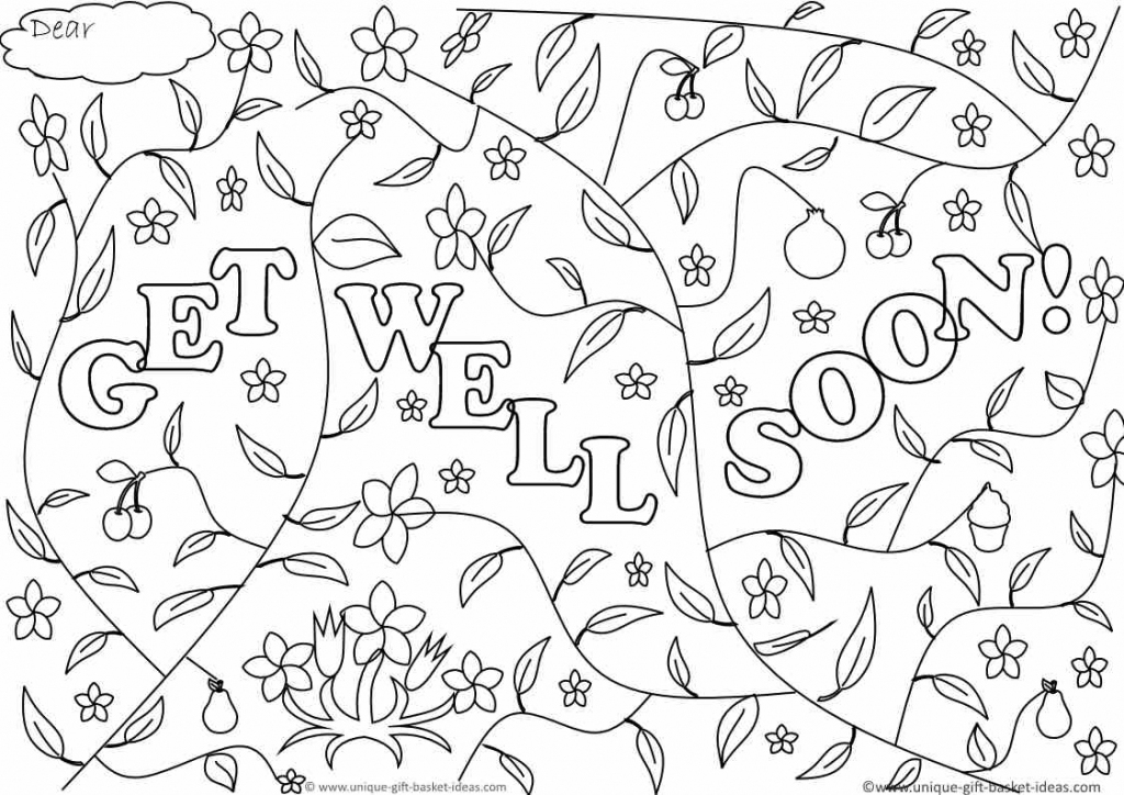 Free Printable Get Well Cards - Hashtag Bg | Free Printable Get Well Cards To Color