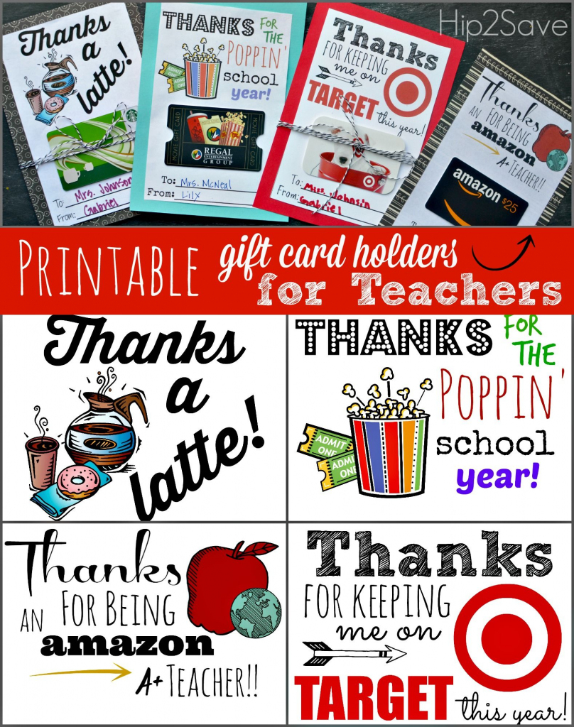 Free Printable Gift Card Holders For Teacher Gifts | Printables | Free Teacher Appreciation Week Printable Cards