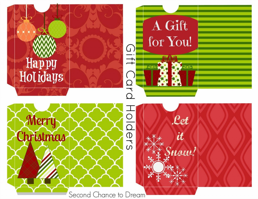 Free Printable Gift Tags & Gift Card Holders | Freebies | Free | Printable Gift Card Holder